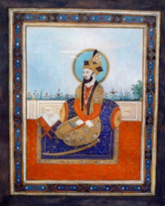 Portrait of Humayun, posthumously painted c. 1700 He was an avid astrologer.